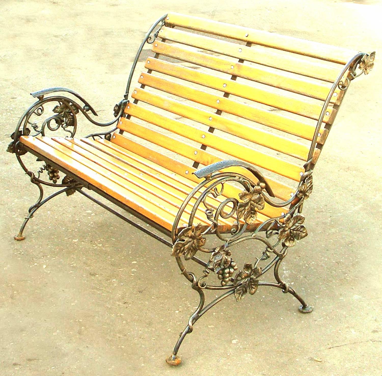 Изготовление скамеек своими руками из металла 124
